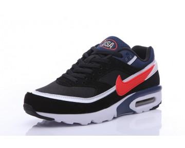 Nike Air Max Premium Bw Herren Schuhe Schwarz/Tief Blau/Rot 819523-064