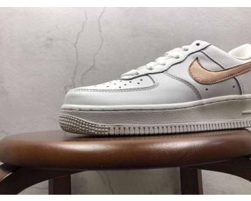 Unisex Nike Air Force 1 Low 314219-129 Schuhe Weiß Metallic Gold