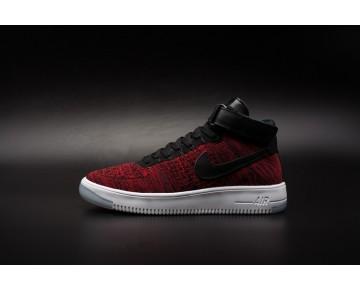 Nike Air Force 1 Flyknitk Unisex Schuhe Schwarz Wein Rot