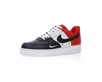 Schuhe 823511-603 Unisex Nike Air Force 1 Low Mini Swoosh Schwarz Weiß Rot