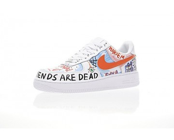 Unisex Hawaii Graffiti 923088-100 Schuhe Edca$Ap Rocky Vlone X Nike Air Force 1 Low