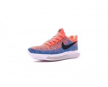 863780-600 Schuhe Sky Blau/Orange Nike Lunarepic Low Flyknit 2 Damen