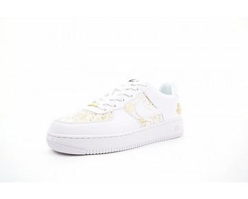 919729-992 Schuhe Nike Air Force 1 Low Premium Lunar New Year Cloud Embroidery Weiß Gold Unisex