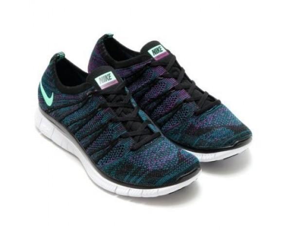 Schuhe Herren Nike Free Flyknit 5.0 Nsw Schwarz/Grün Glow-Radiant Emerald-Vivid Lila 599459-003