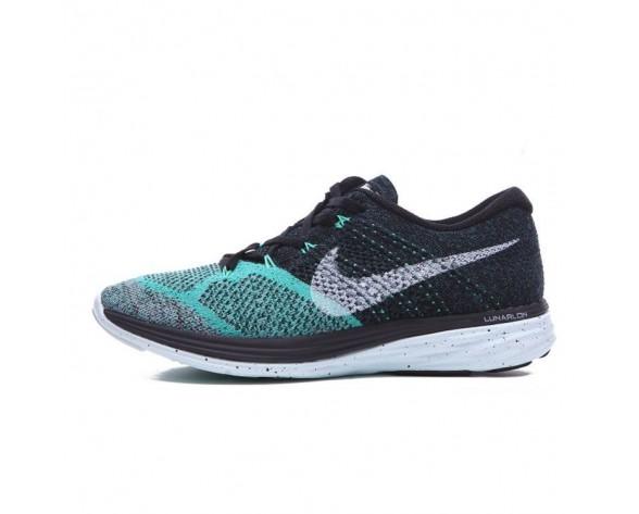 Nike Flyknit Lunar 3 Schuhe Damen Schwarz/Lime Grün/Weiß