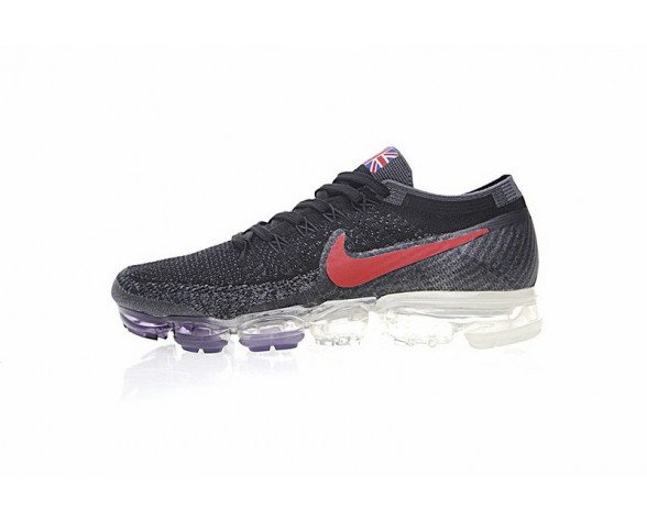 Herren Nike Air Vapormax Flyknit Schwarz/Rot Schuhe 849558-019