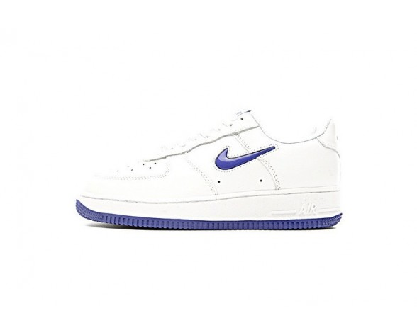 Blau Mercury/Weiß Nike Air Force 1 Low Jewel Swoosh Mercury Herren 600668-108 Schuhe