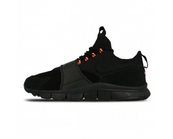 Nike Free Ace Leather Schwarz & Hyper Orange Herren Schuhe 749627-001