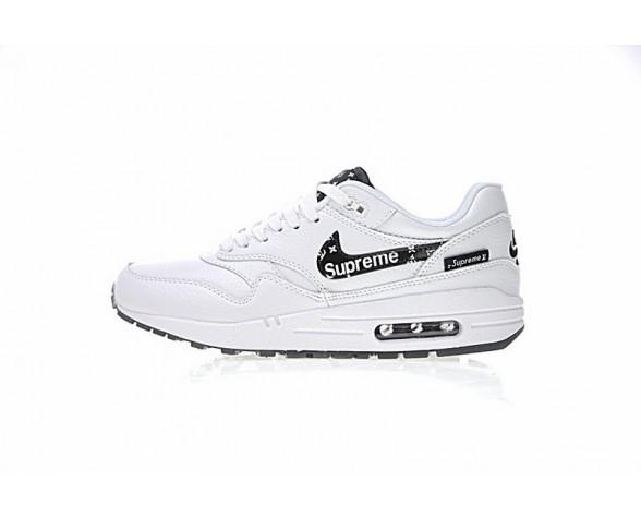 Weiß/Schwarz Schuhe Supreme X L.Vx Nike Air Max 1 Customx Sup 908375-107 Unisex