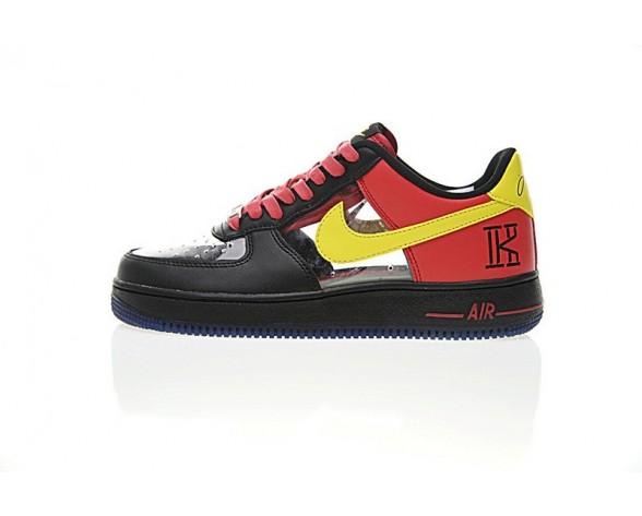 Schwarz Rot Gelb Herren Nike Air Force 1 Low Cmft Signature Schuhe 687843-001