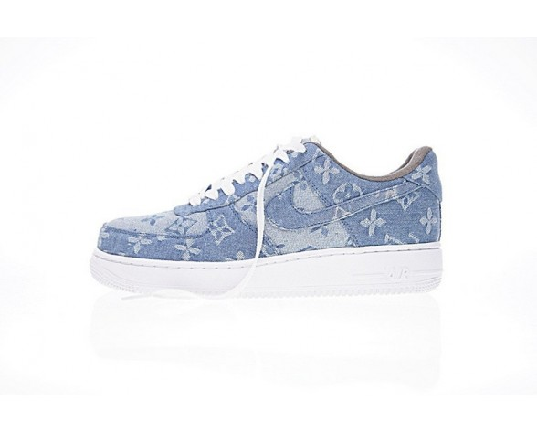 Denim Blau Herren Schuhe L.Vx Supreme X Nike Air Force 1 923044-041