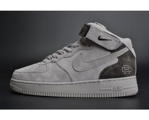 Schuhe 807618-200 Reigning Champ X Nike Air Force 1 Mid '07 Grau/Dunkel Grau Unisex