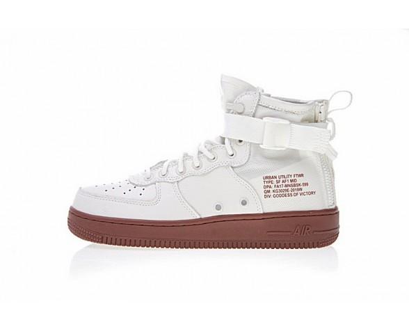 Nike Sf Air Force 1 Mid Weiß Brick Rot Schuhe Herren 917753-100