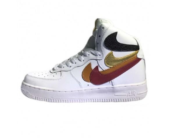 Nike Air Force 1 High Herren Misplaced Checks Schuhe White