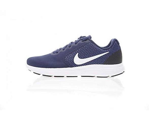 Herren 819300-406 Nike Revolution Schuhe Tief Blau/Weiß