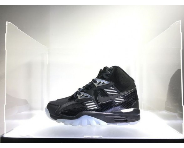 Nike Air Trainer Sc High Qs 302346-016 Schuhe Schwarz-Weiß-Vivid Lila Authentic Damen