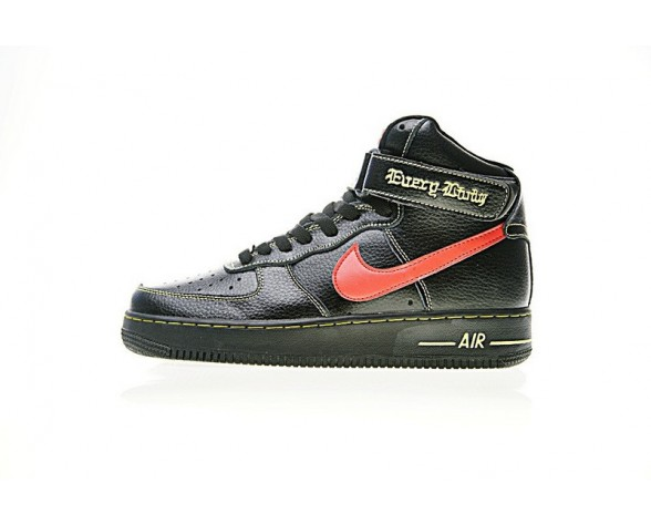 Schuhe Unisex Vlone X Nike Air Force 1 High Collection E Schwarz Rot Blau Aa536-001