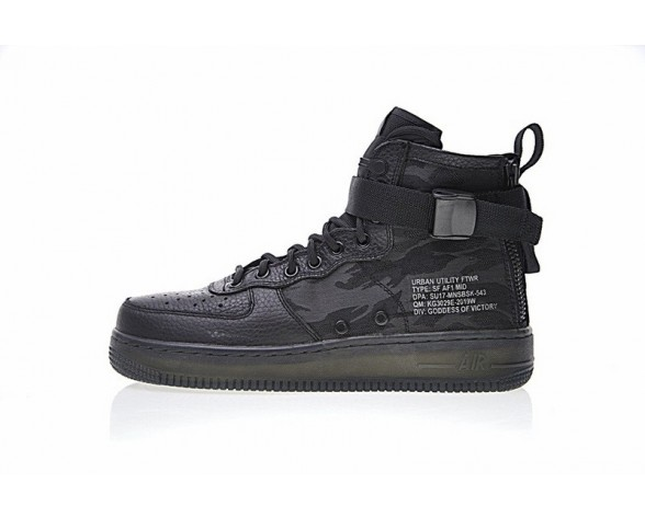 Nike Sf Air Force 1 Mid Aa7345-001 Tiger Pattern Camo Schuhe Unisex
