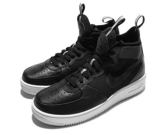 Unisex Schuhe Nike Air Force 1 Ultraforce Mid Schwarz Weiß 864025-001