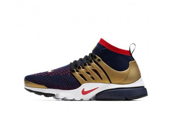 835570-406 Nike Air Presto Ultra Flyknit Olympic Herren Schuhe Marine/Rot/Gold