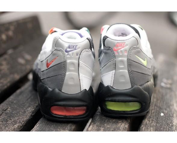 Schuhe Nike Air Max 95 Og Qs 810374-078 Schwarz/Safety Orange/Volt Unisex
