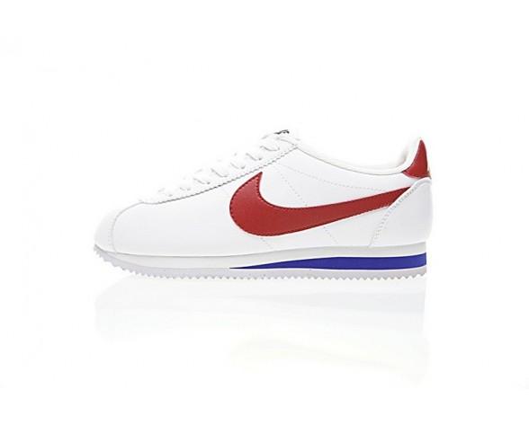 Nike Classic Cortez Leather Weiß/Schwarz/Blau Unisex Schuhe 807471-103