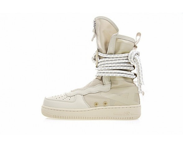 Aa3965-200 Unisex Schuhe Desert/Cream Weiß Nike Wmns Sf Air Force 1 High
