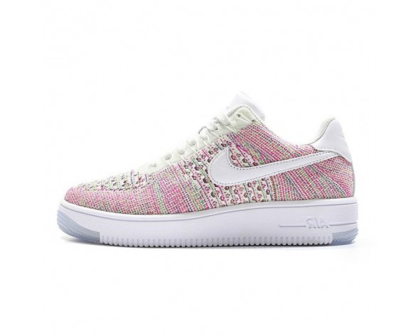 Rosa Weiß Rainbow Schuhe Damen 817420-102 Nike Air Force 1 Ultra Flyknit Low