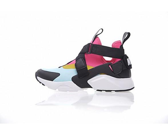 Schwarz Rosa Grün 833146-613 Schuhe Damen Nike Air Huarache V Mid