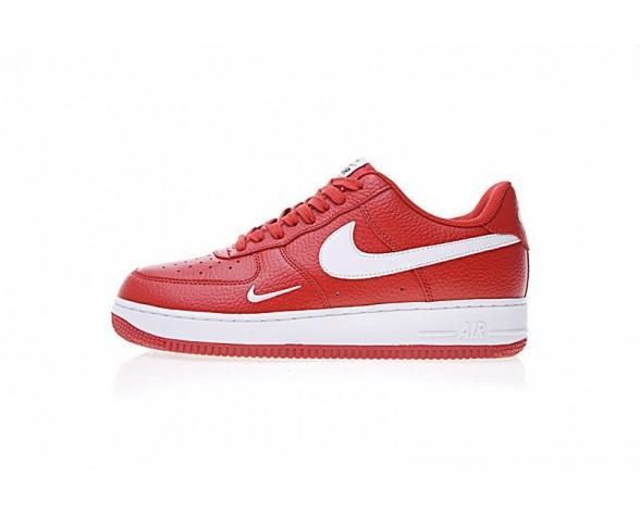 Nike Air Force 1 Low Mini Swoosh 820266-018 Rot Weiß Schuhe Herren