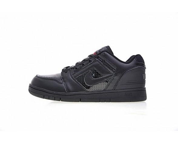 Schwarz Weiß Supreme X Nike Sb Air Force 2 Low Sb Schuhe Herren Aa0871-001