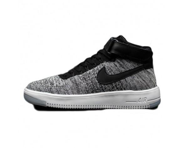 Weiß Gray Schuhe Nike Air Force 1 Flykni Herren