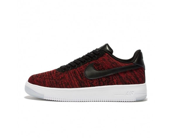 Schuhe Unisex Rot Wein And Weiß Nike Air Force 1 Ultra Flyknit Low 817420-600