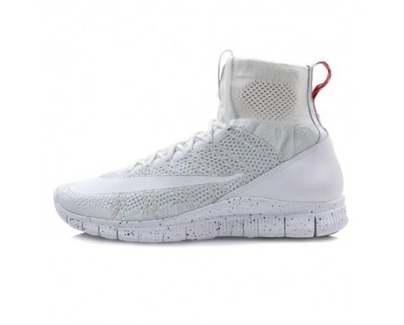Schuhe 805554-100 Nike Free Mercurial Superfly Unisex Weiß