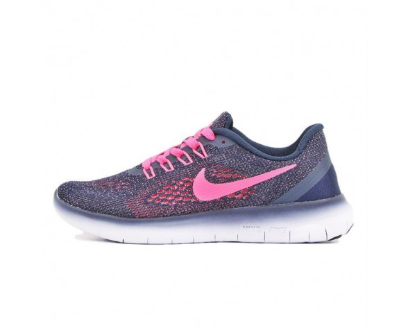 Schuhe Damen  Nike Free Rn 831509-461 Marine/Fuchsia Rosa