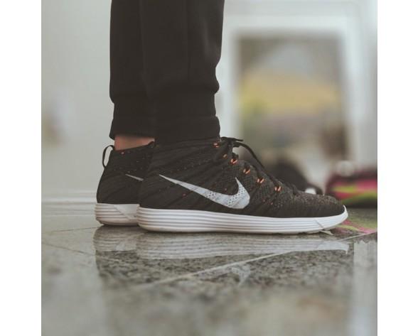 Schuhe Nike Lunar Flyknit Chukka Tief Grau/Orange 554969-081 Herren
