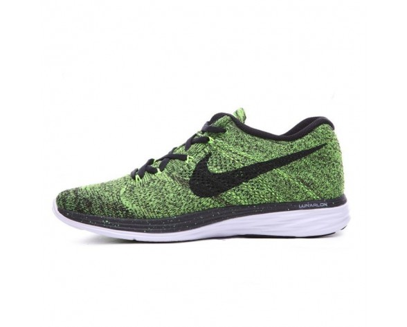 Lime Grün/Schwarz Nike Flyknit Lunar 3 Schuhe Herren