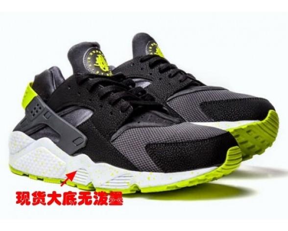 Schwarz/Grün Schuhe Nike Air Huarache 318429-030 Herren