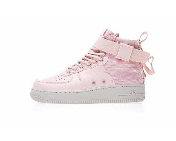 Schuhe Aa3966-800 Damen Ligh Orange Rosa Nike Sf Air Force 1 Utility Mid