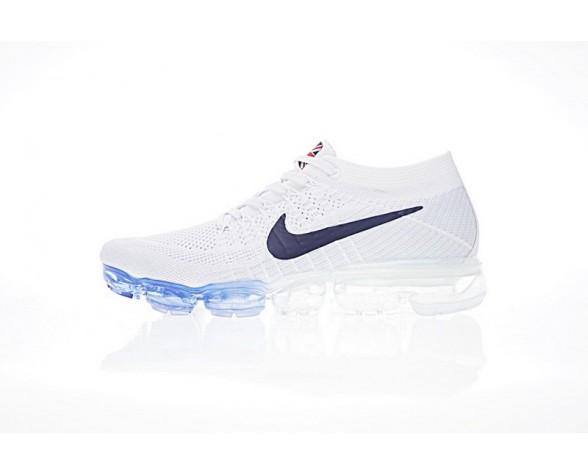849558-222 Weiß/Blau/Rot Unisex Nike Air Vapormax Flyknit Uk Schuhe