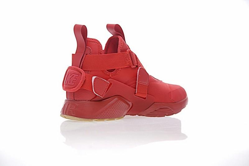 Damen Nike Air Huarache V Mid 833146-606 Schuhe Rot Weiß Licht Braun.  Regulaerer Preis  149 1dd571aaab67