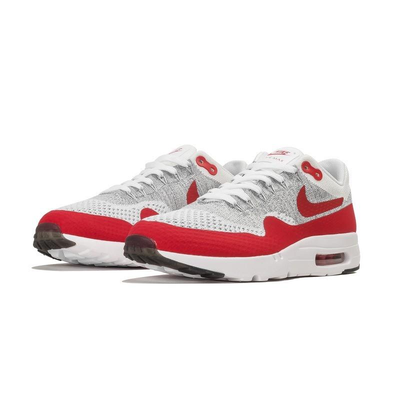 best website 68eb0 daf36 Schuhe Herren Weiß Universität Rot Nike Air Max 1 Ultra Flyknit Og  843384-101. Regulaerer Preis  155,00 €