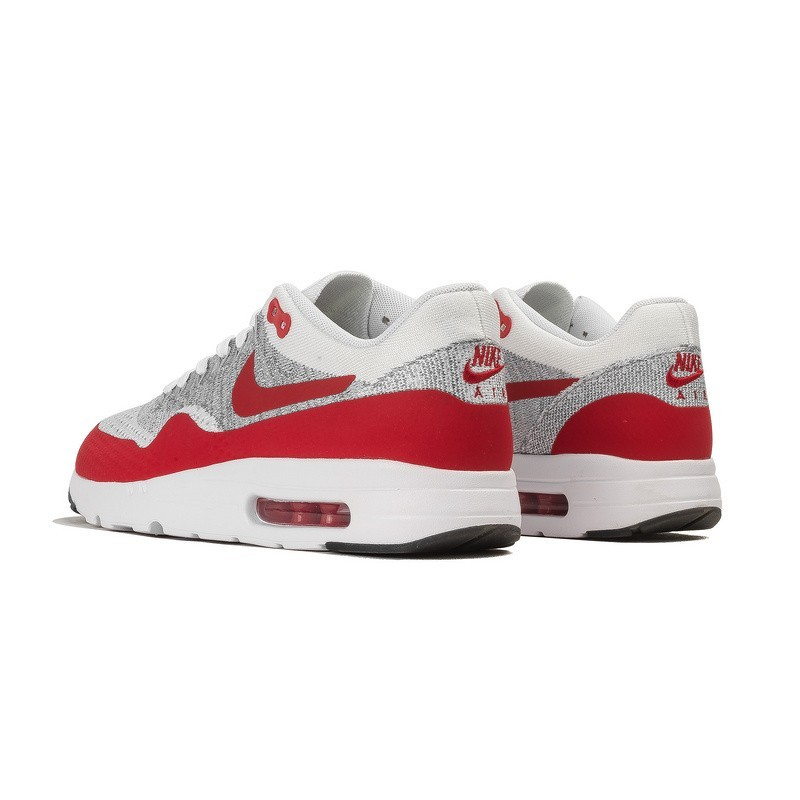 best website ddbbd f4ae5 Schuhe Herren Weiß Universität Rot Nike Air Max 1 Ultra Flyknit Og  843384-101. Regulaerer Preis  155,00 €
