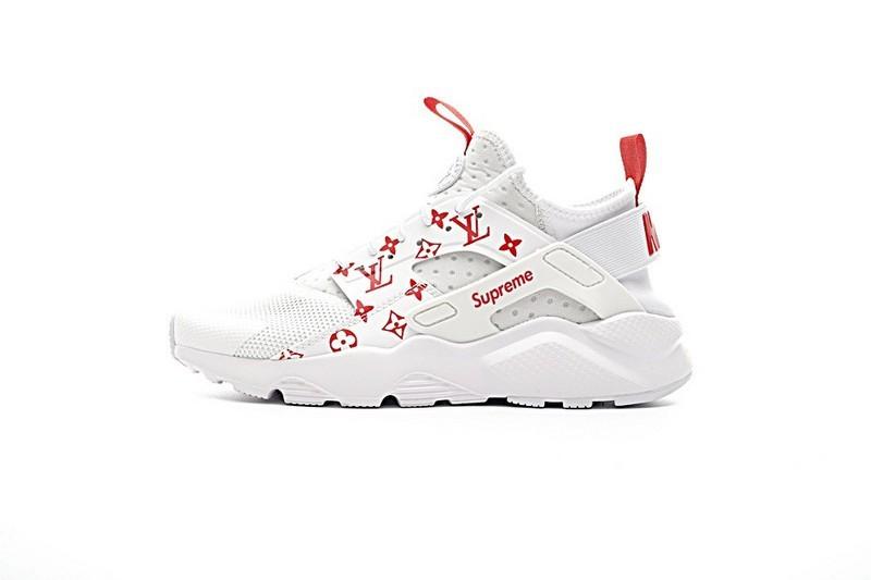 ae78ab5c22c3 Unisex 819685-106 Schuhe Weiß Rot Nike Air Huarache Ultra Id X Supreme