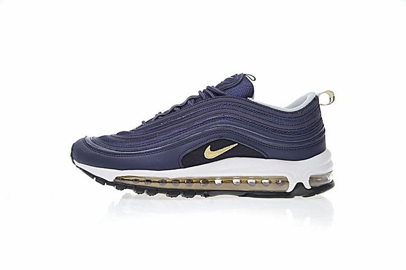 separation shoes c8ec0 db65b Schuhe 921826-400 Nike Air Max 97 Tief Blau Gold Herren