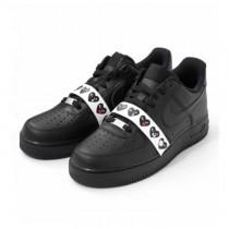 Schuhe Comme Des Garçons X Nike Air Force 1 Low Unisex Schwarz Emoji 315122-001