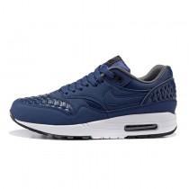 Nike Air Max 1 Woven Schuhe Herren Marine Blau/ Weiß 725232-400