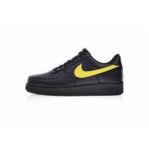 Vlone Nike Air Force 1 07 Lv8 Low Schuhe Herren Schwarz Gelb Aa4083-002