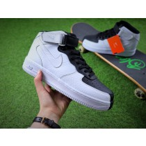 Schuhe Schwarz Weiß Unisex Nike Air Force 1 Low Split 905345-004