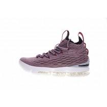 Schuhe Licht Lila/Wein Rot/Weiß 897649-201 Nike Lebron 15 Herren